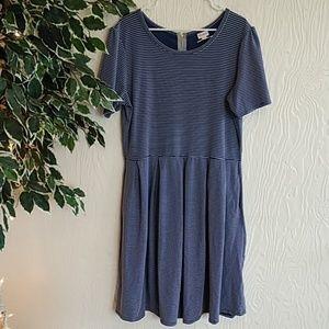 Lularoe Amelia 3XL blue and white striped dress